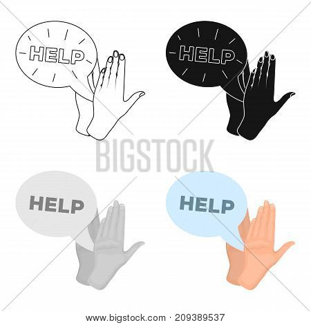 Hands, single icon in cartoon style.Hands, vector symbol stock illustration .