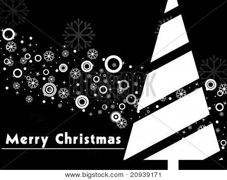 black creative artwork pattern background with xmas tree