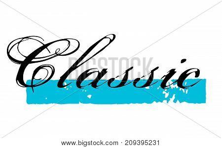 Classic sticker. Authentic design graphic stamp. Original series