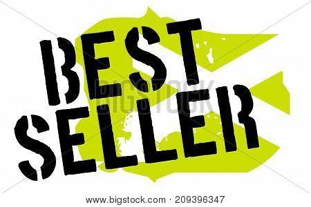 Bestseller sticker. Authentic design graphic stamp. Original series