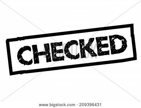 Checked sticker. Authentic design graphic stamp. Original series