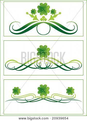 three artistic design illustration for ocassion