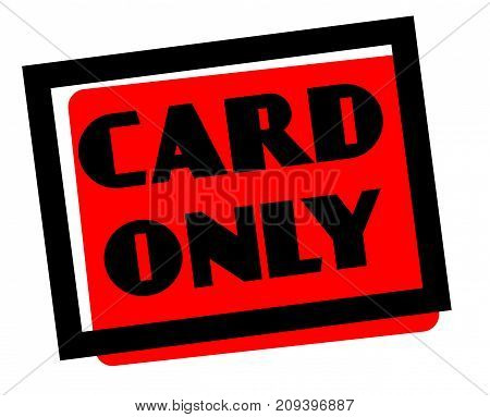 Card only sticker. Authentic design graphic stamp. Original series