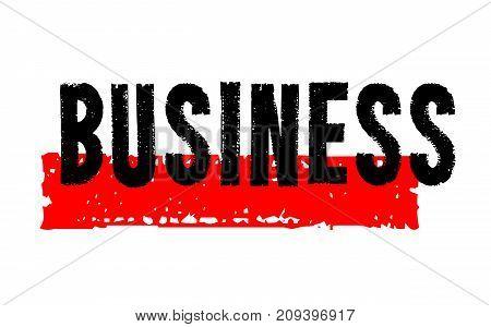 Business sticker. Authentic design graphic stamp. Original series