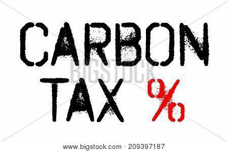 Carbon tax sticker. Authentic design graphic stamp. Original series