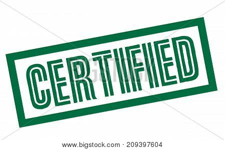 Certified sticker. Authentic design graphic stamp. Original series