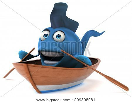 Fun fish - 3D Illustration