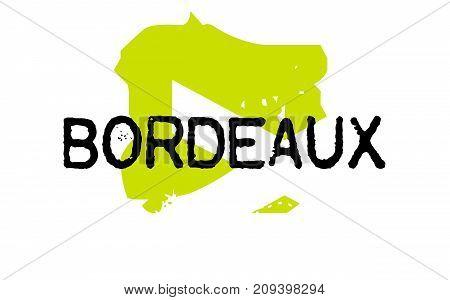 Bordeaux sticker. Authentic design graphic stamp. Original series