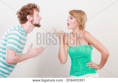 Man Asking For Forgivness. Conflicted Couple.