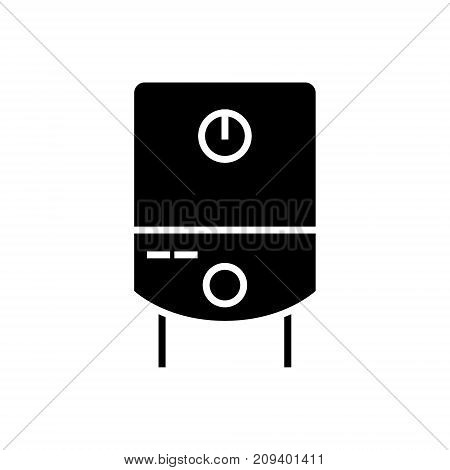 gas tank water boiler icon, illustration, vector sign on isolated background