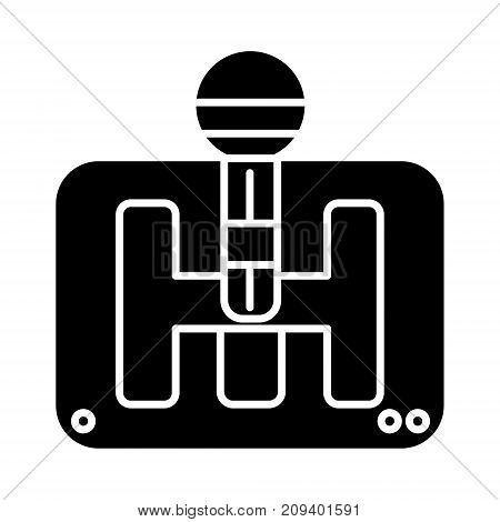 gearstick icon, illustration, vector sign on isolated background