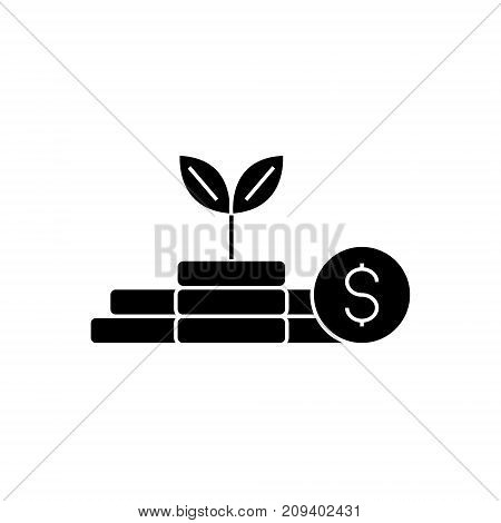 growth money - investment - finance plan icon, illustration, vector sign on isolated background