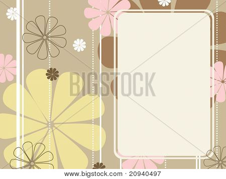 abstract background with blossom pattern banner