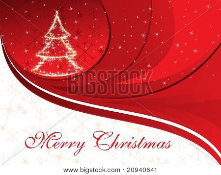 halftone background with twinkle star pattern xmas tree