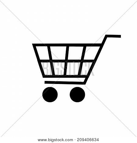 shopping cart icon isolated on white background