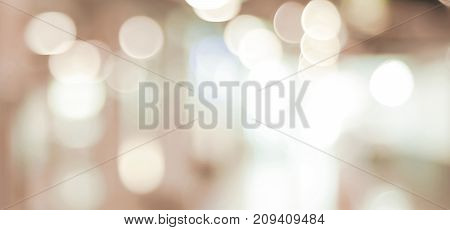 Blurred background brown festive light abstract bokeh background banner