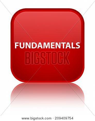 Fundamentals Special Red Square Button