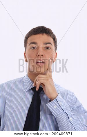 closeup.confident businessman adjusting his tie