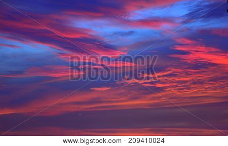 The sky with clouds beatiful sunrise background.