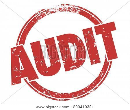Audit Review Accounting Check Round Red Stamp Illustration