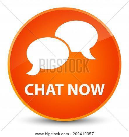 Chat Now Elegant Orange Round Button