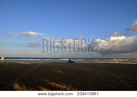 The Beach In Bali, Indonesia. The Paradise Island Famous For Its Nature And Culture