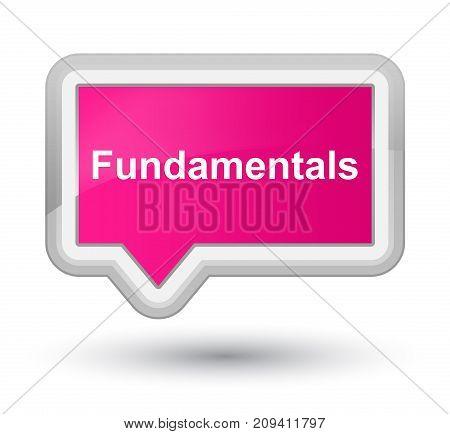 Fundamentals Prime Pink Banner Button