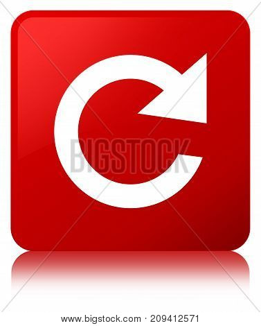 Reply Rotate Icon Red Square Button