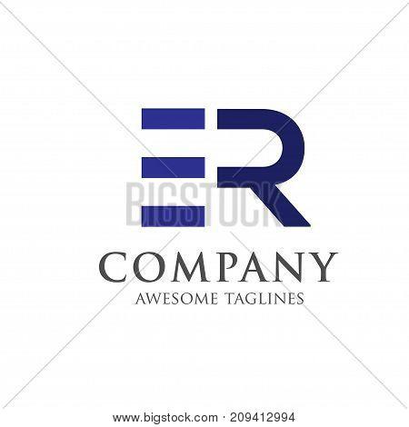creative letter ER logo concept, innovative ER letter icon