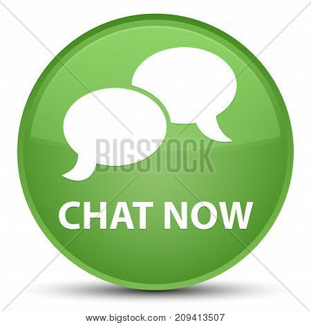 Chat Now Special Soft Green Round Button