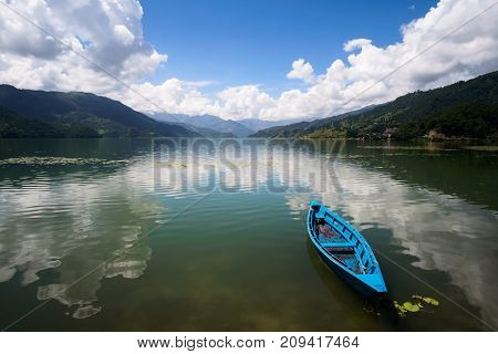 Boat At The Phewa Lake, Pohara, Nepal