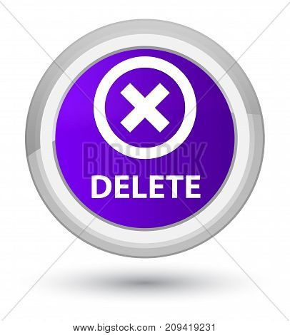 Delete Prime Purple Round Button