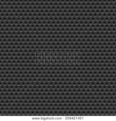 Perforated dark metal background vector illustration design