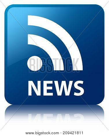 News (rss Icon) Blue Square Button
