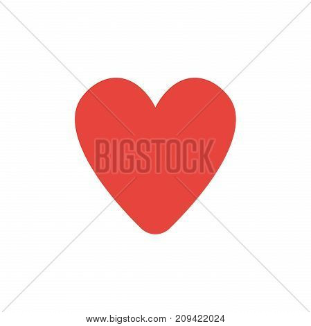 Flat Design Style Vector Of Heart