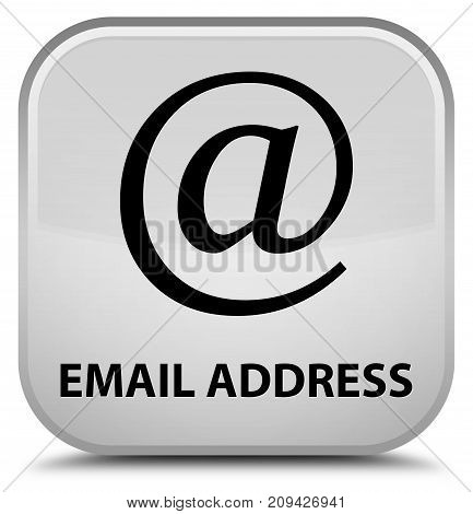Email address isolated on special white square button abstract illustration poster