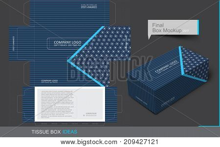 Tissue box template concept Template for Business Purpose Place Your Text and Logos and Ready To GO For Print.