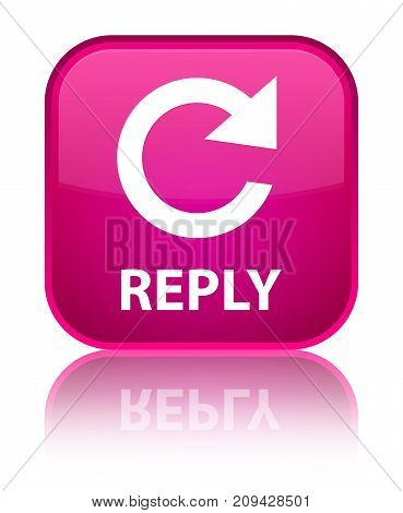 Reply (rotate Arrow Icon) Special Pink Square Button