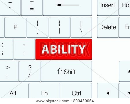 Ability Red Keyboard Button