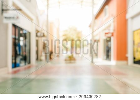 Blurred background - Store of shopping mall blur background with bokeh. vintage filtered image.