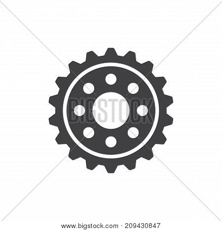 Gear icon vector, filled flat sign, solid pictogram isolated on white. Cogwheel symbol, logo illustration.