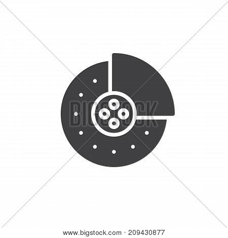 Brake pads icon vector, filled flat sign, solid pictogram isolated on white. Symbol, logo illustration.