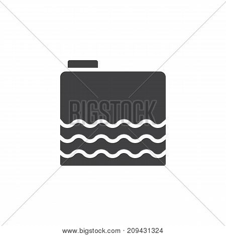 Gasoline icon vector, filled flat sign, solid pictogram isolated on white. Gas tank symbol, logo illustration.