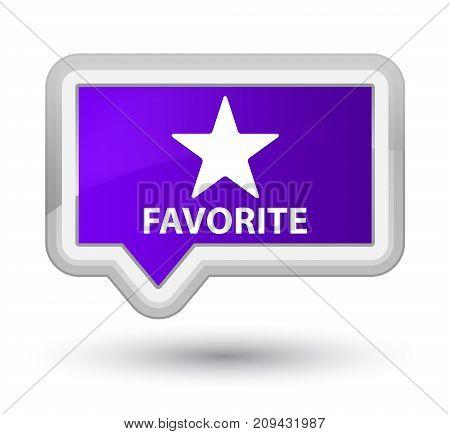 Favorite (star Icon) Prime Purple Banner Button