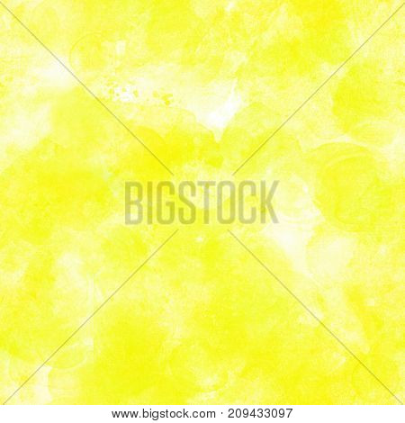 A seamless artistic vibrant yellow green background texture with abstract brush strokes
