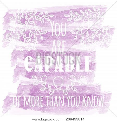 Inspiring Creative Motivation Quote. Vector Typography Banner Design Concept