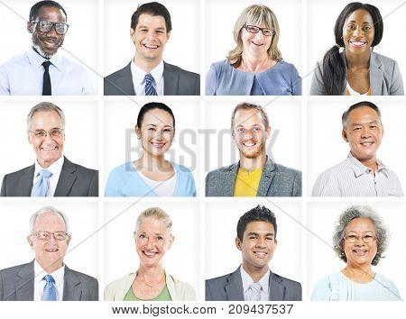 Portrait of Multiethnic Diverse Business People