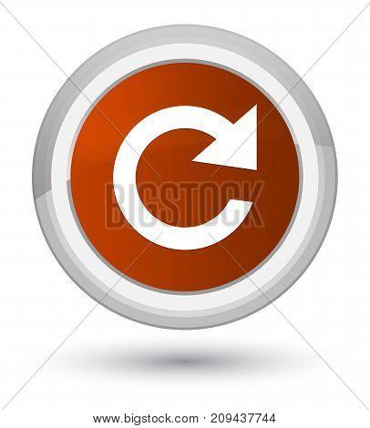 Reply Rotate Icon Prime Brown Round Button