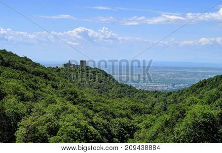 Medvedgrad is a medieval fortified town located on the south slopes of Medvednica mountain approximately halfway from the Croatian capital Zagreb to the mountain top Sljeme