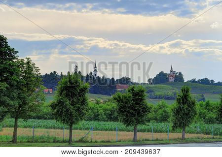 Goricak is a settlement in the Municipality of Zavrc in the Haloze area of eastern Slovenia right on the border with Croatia.